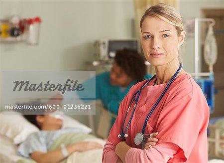 Portrait de l'infirmière à l'hôpital