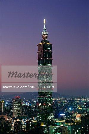 Taipei 101 Tower at Dusk, Taipei, Taiwan
