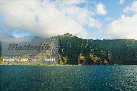 Cathedral Rock, Na Pali Coast State Park, Kauai, Hawaii, USA