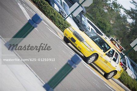 Taxi moving on the road, Savannah Georgia, USA