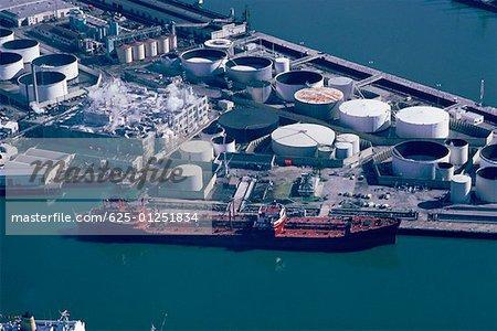 Oil tanker unloading, San Pedro, California
