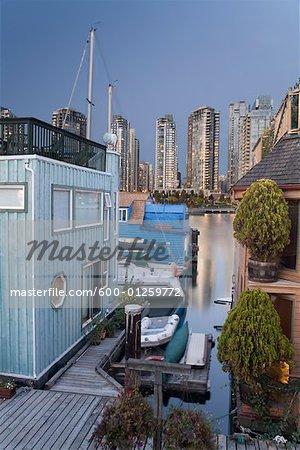 Floating Houses, False Creek, Vancouver,British Columbia, Canada