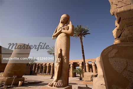Colossus of Ramses II, Temple of Amun, Karnak, Egypt,