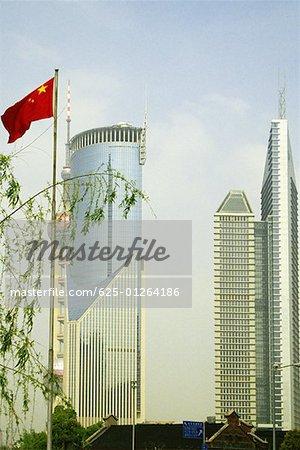 Gratte-ciels dans une ville, Pudong, Shanghai, Chine