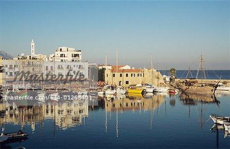 Bateaux à kyrenia Chypre du port