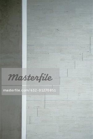 Architectural detail, concrete wall