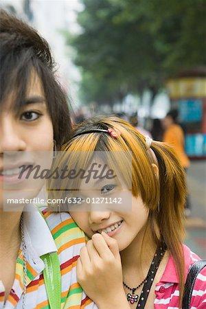 Couple d'adolescents, portrait