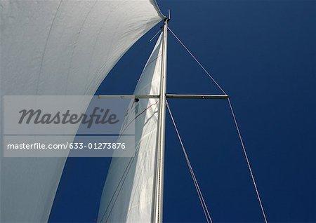 Sailboat, low angle view of sail