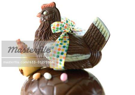 Chocolate chickens