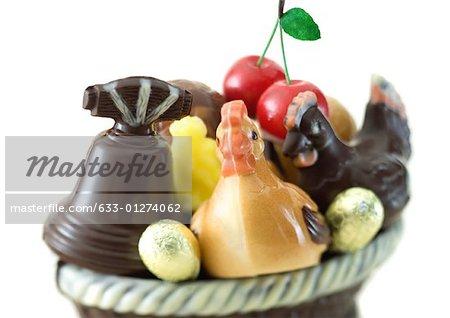 Variety of chocolate figurines