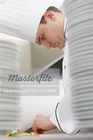 Chef hacher légumes