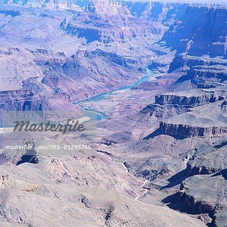 Vue d'ensemble du Grand Canyon, Arizona, USA