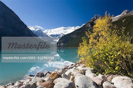 Mountains and Lake, Lake Louise, Banff National Park, Alberta, Canada
