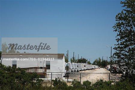 Maison modulaire FEMA unités, Magnolia, Louisiane, Etats-Unis