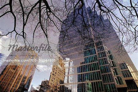 Immeubles de bureaux sur Burrard Street, Vancouver, Colombie-Britannique, Canada