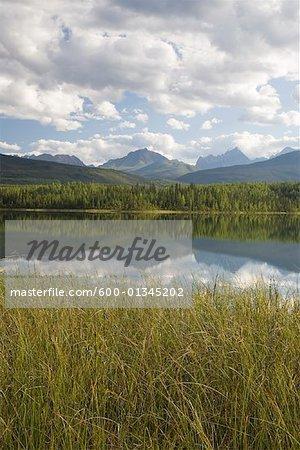 Lac Rabbitkettle, réserve de parc National Nahanni, Territoires du Nord-Ouest, Canada