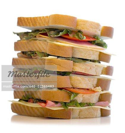 Close-up of a large sandwich