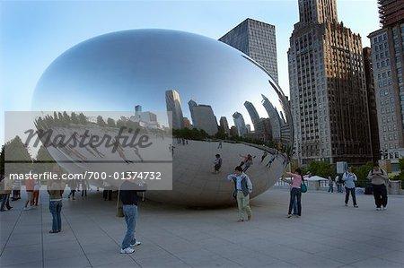 Cloud Gate, Millennium Park, Chicago, Illinois, Etats-Unis