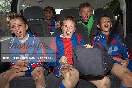 Soccer Players in Minivan