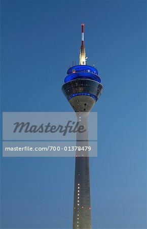 Rheinturm TV Tower, Dusseldorf, Germany