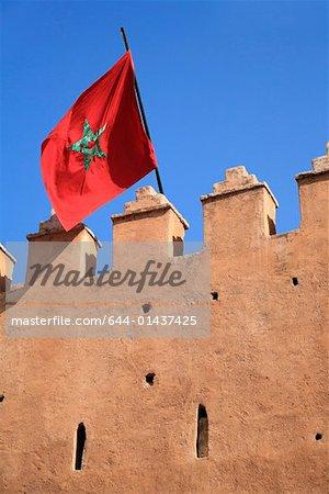 Drapeau marocain sur le renforcement des