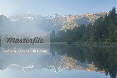 Lake Matheson, Westland, South Island, Nouvelle-Zélande