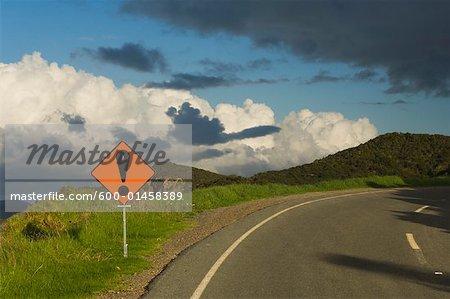 Road Sign, Bay of Islands, North Island, Nouvelle-Zélande