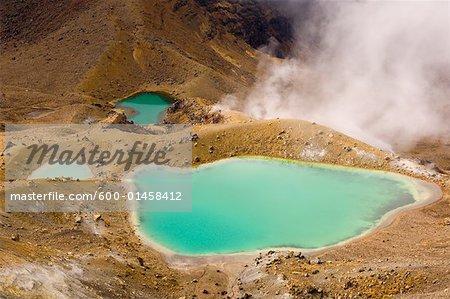 Émeraude des lacs, Parc National de Tongariro, North Island, Nouvelle-Zélande