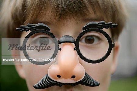 Portrait de garçon déguisé