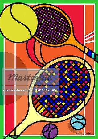 Illustration of Tennis Racquets