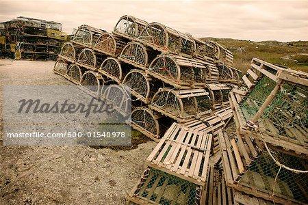 Casiers à homards, Cove, Nouvelle-Écosse, Canada de Peggy