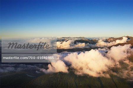 Vue aérienne, South Island, Nouvelle-Zélande