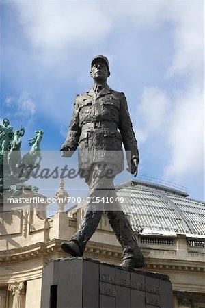 Statue de Charles de Gaulle, Grand Palais, Paris, France