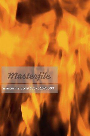 Flammes, plein cadre