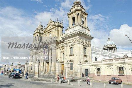 Guatemala, Guatemala city, Constitution Square, cathedral