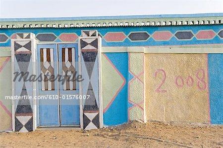 Soudan, Sahara oriental, Soleib, murs peints