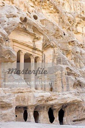 Jordan, Beida or little Petra, Nabataean tomb