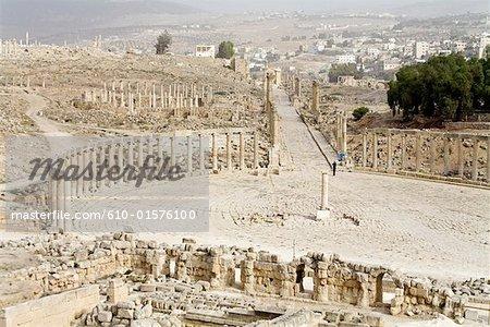Jordan, Jerash, vue depuis le temple de Zeus