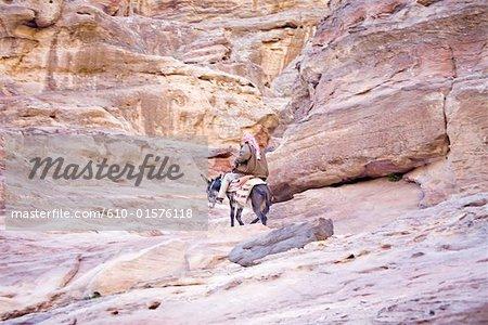 Jordan, Petra, donkey ridding in the Siq