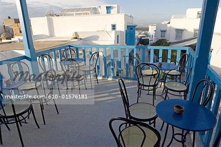 Tunisia, Sidi Bou Said, cafe terrace