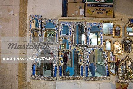 Souk Tunisie, Tunis, miroirs