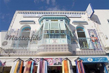 Tunisia, Nabeul, restaurant above souk
