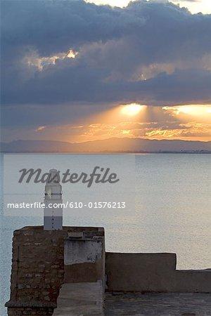 Tunisia, Hammamet, sunset from the Ottoman fortress