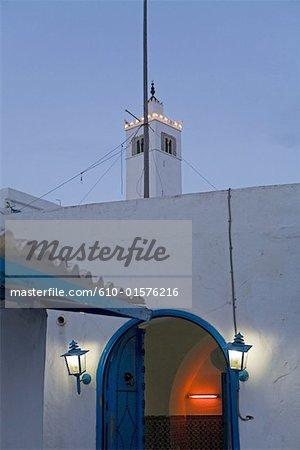 Cafe de la Tunisie, Sidi Bou Saïd, au crépuscule