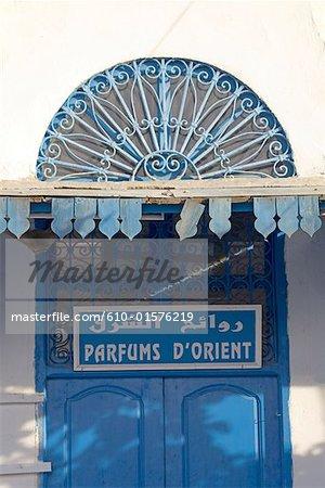 Tunisia, Sidi Bou Said, perfume shop