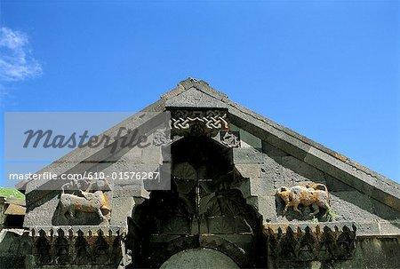 Armenia, Selim pass, carved caravan-saray