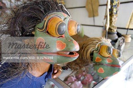 Fabricant de marionnettes Wayang Orang Indonésie, Bali,