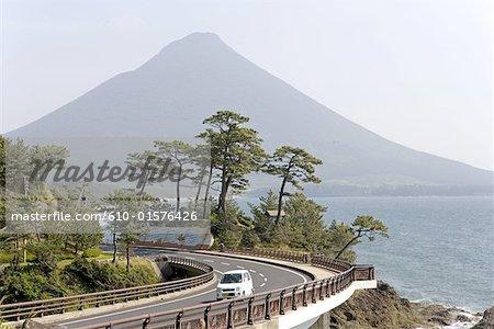 Japon, volcan de l'île de Kyushu, Ibusuki, Kaemon