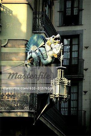 Signe de boutique de parapluies en Catalogne, Barcelone, Espagne