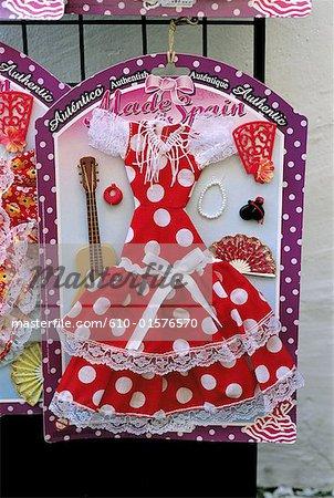 Espagne, Andalousie, Cordoue, robe de flamenco